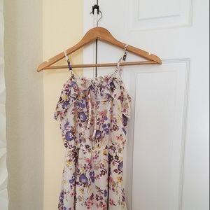 Girls Mossimo flowered dress, lined, sz S